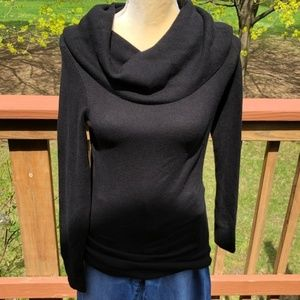 French Connection Black Cowl Neck Sweater A125